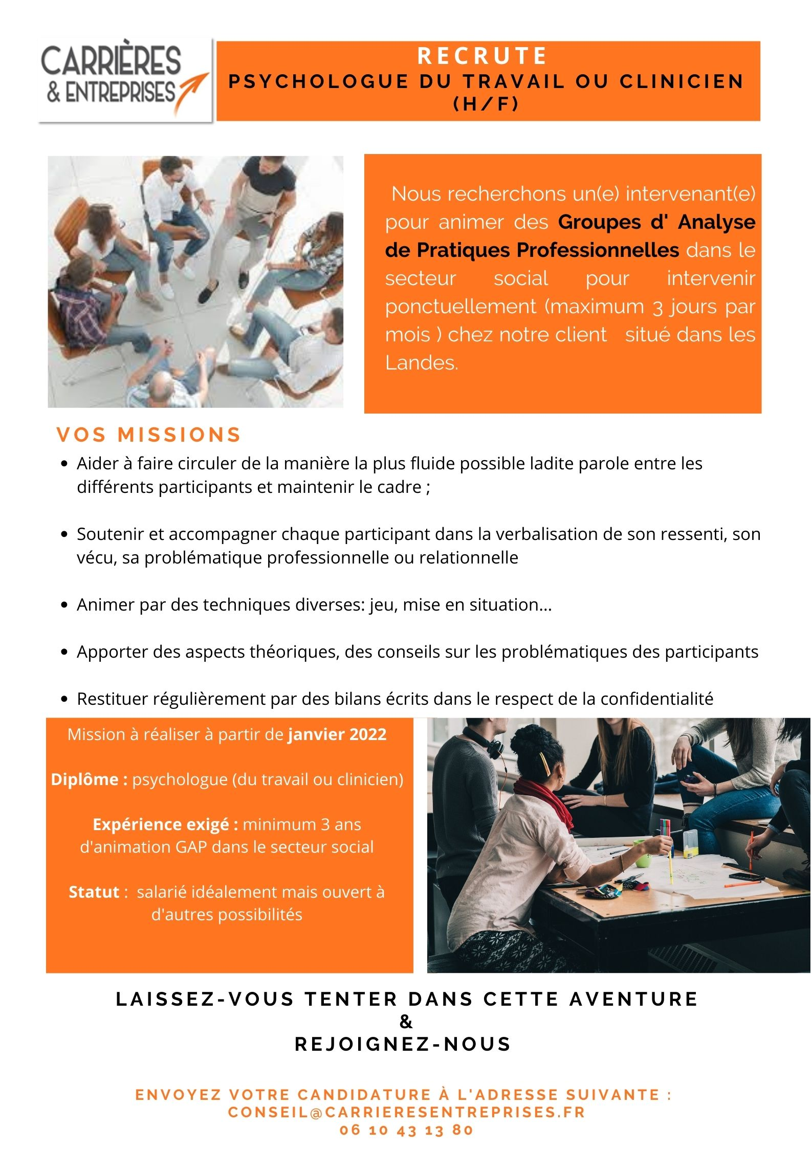 You are currently viewing Recrutement Psychologue Clinicien ou du travail